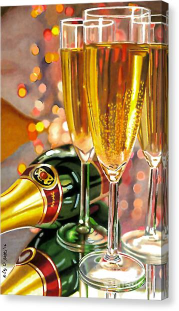 Champagne Wishes Canvas Print