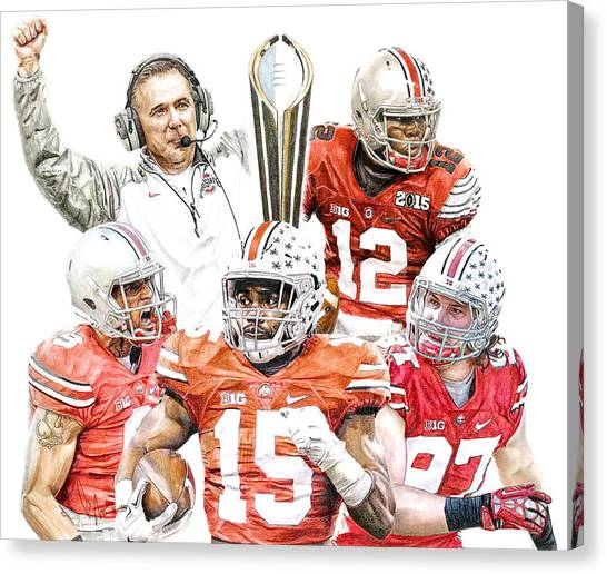 Football Canvas Print - Champions by Bobby Shaw