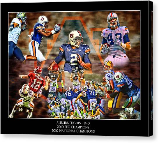 Cam Newton Canvas Print - Champions by Lance Curry