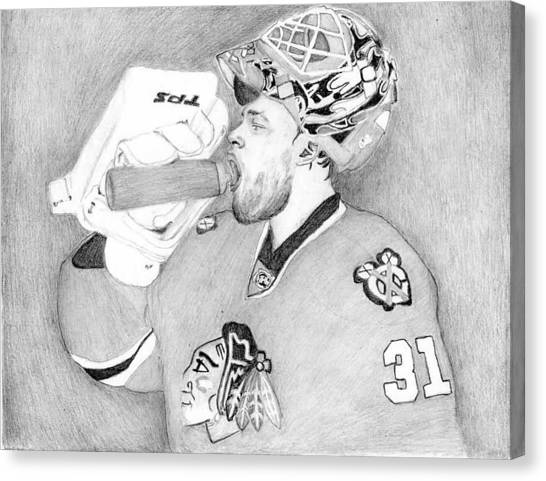 San Jose Sharks Canvas Print - Championship Goalie by Kiyana Smith