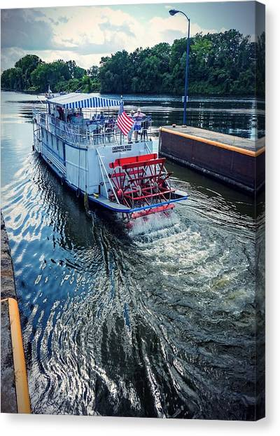 Champlain Canal Patriot Canvas Print
