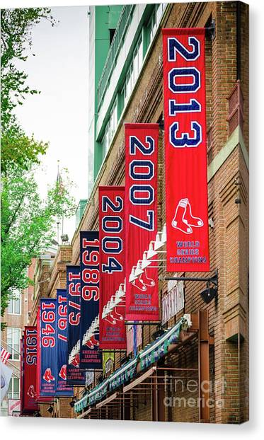 Boston Red Sox Canvas Print - Champs Again by Mike Ste Marie