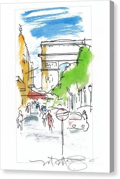Champs Elysee Paris Canvas Print