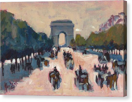 Briex Canvas Print - Champs Elysees Paris by Nop Briex