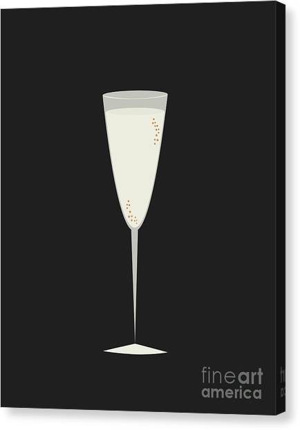 Champagne Canvas Print - Champs by Julia Garcia