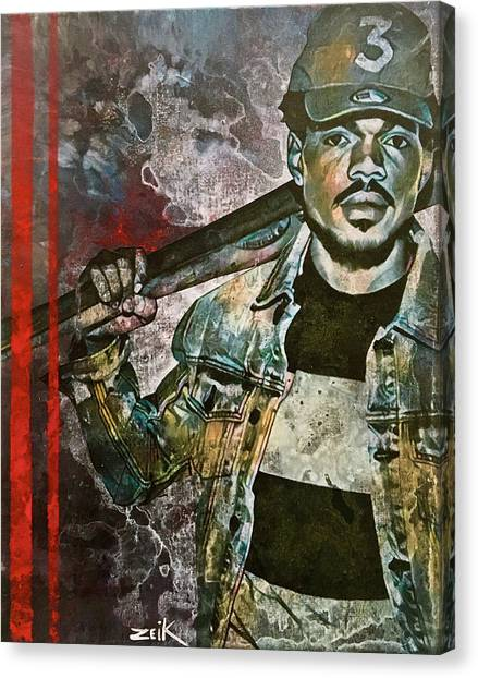 Chance The Baseball Fury Canvas Print by Bobby Zeik