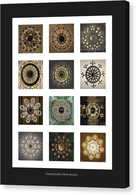 Collection Poster Chandeliers From Russia Canvas Print