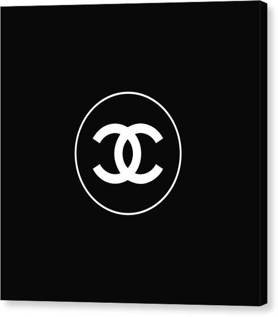 Black And White Canvas Print - Chanel - Black And White 02 - Lifestyle And Fashion by TUSCAN Afternoon