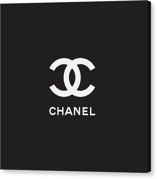 Black And White Canvas Print - Chanel - Black And White 03 - Lifestyle And Fashion by TUSCAN Afternoon