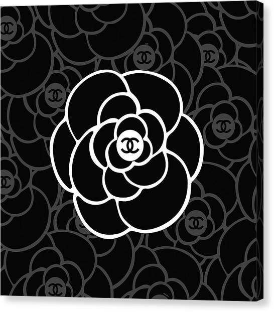Fashion Canvas Print - Chanel Camellia - 05 - Fashion And Lifestyle by TUSCAN Afternoon