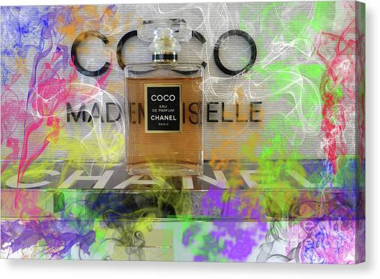 Jimmy Choo Canvas Print - Chanel Coco Abstract 4 by To-Tam Gerwe