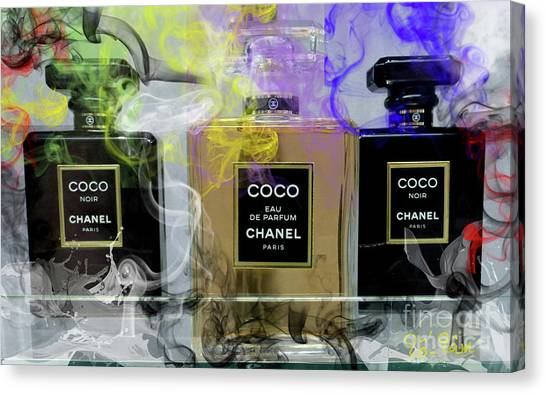 Jimmy Choo Canvas Print - Chanel Coco Noir by To-Tam Gerwe
