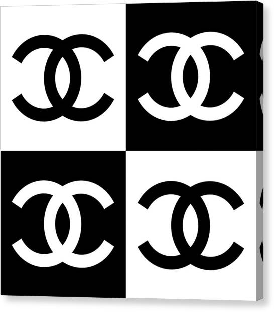 Heart Canvas Print - Chanel Design-5 by Three Dots