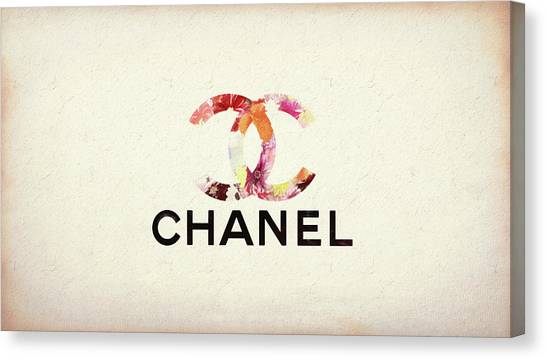Chanel Floral Texture  Canvas Print