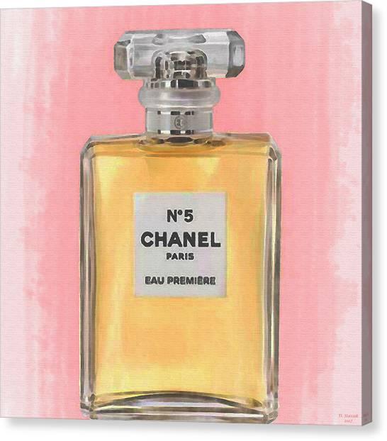 Chanel No 5 Eau De Parfum Canvas Print