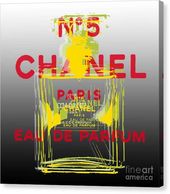 Chanel  No. 5 Pop Art - #1 Canvas Print
