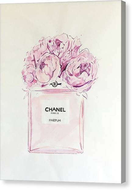 Chanel Canvas Print - Chanel Peonies by Anna Shogren