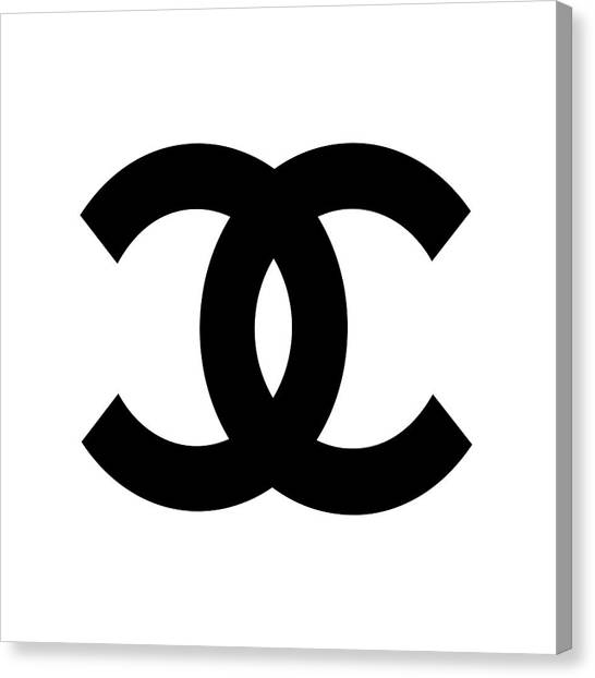 Chanel Canvas Print - Chanel Symbol by Edit Voros