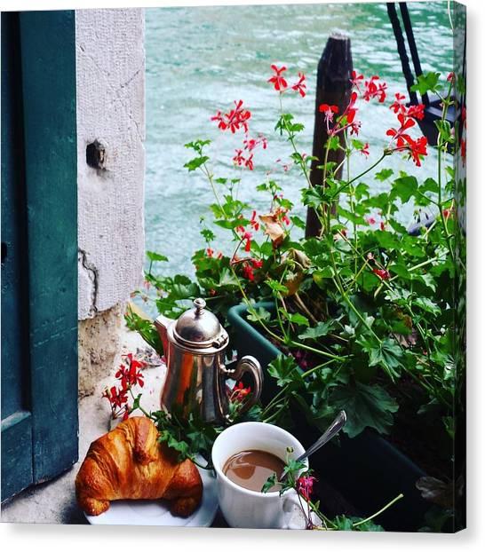 Chanel View Breakfast In Venezia Canvas Print