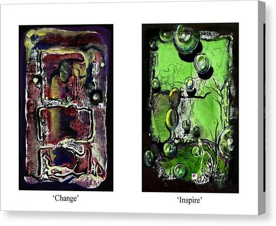 Change To Inspire Canvas Print