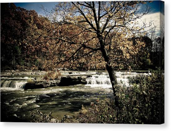 Changes Blowing In Canvas Print by Melissa  Riggs