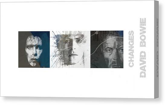 David Canvas Print - Changes David Bowie Triptych by Paul Lovering