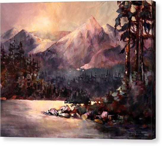 Changing Light On The Bulkley River Canvas Print