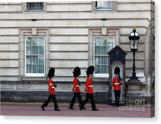 Royal Guard Canvas Print - Changing Of The Guard 1 by James Brunker