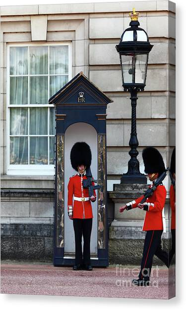 Royal Guard Canvas Print - Changing Of The Guard 2 by James Brunker