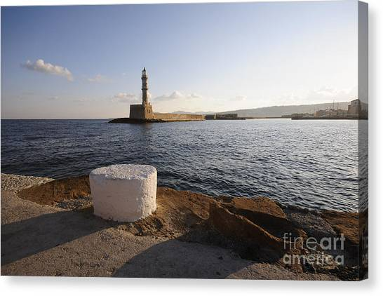 Greek Art Canvas Print - Chania by Smart Aviation