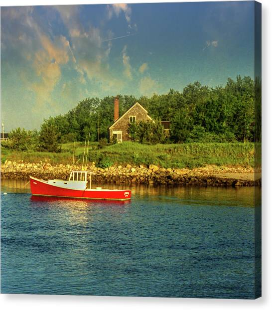 Canvas Print featuring the photograph Channel Afternoon by Samuel M Purvis III