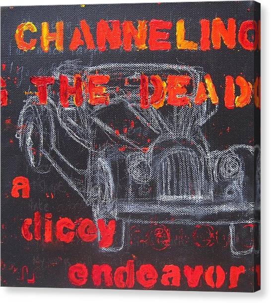 Channelling The Dead A Dicey Endeavor Canvas Print by Natalie Mae Richards