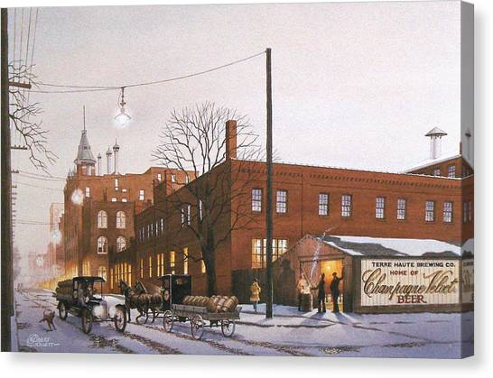 Chanpagne Velvet Brewery Canvas Print