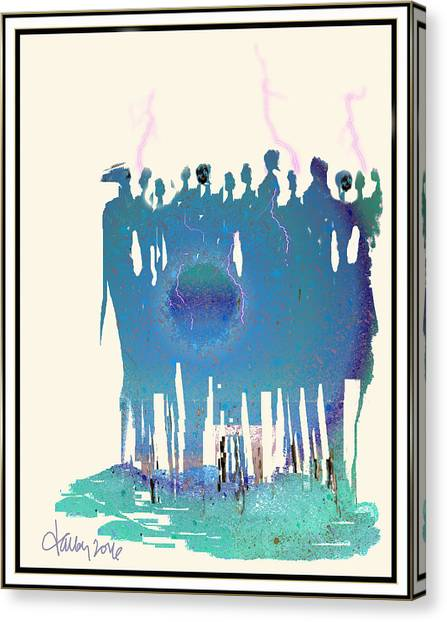 Women Chanting - Recharging The Earth Canvas Print