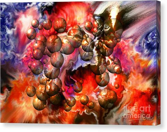 Chaos Spheres By Spano Canvas Print