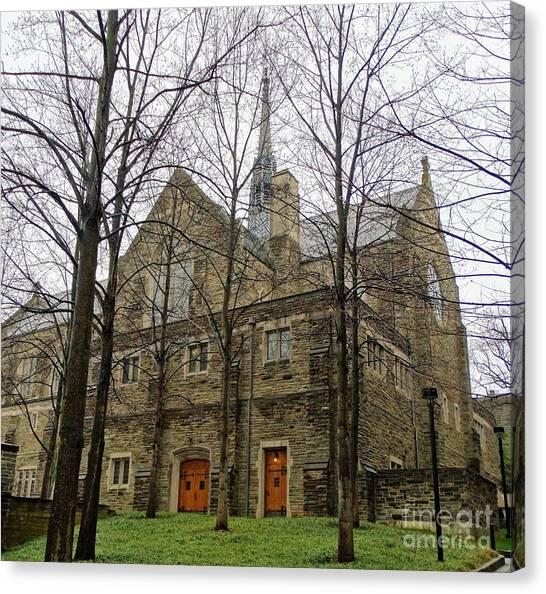 Mvc Canvas Print - Chapel At Loyola University Of Maryland by Gina Sullivan