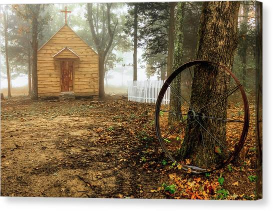 Chapel In The Woods 1 Canvas Print