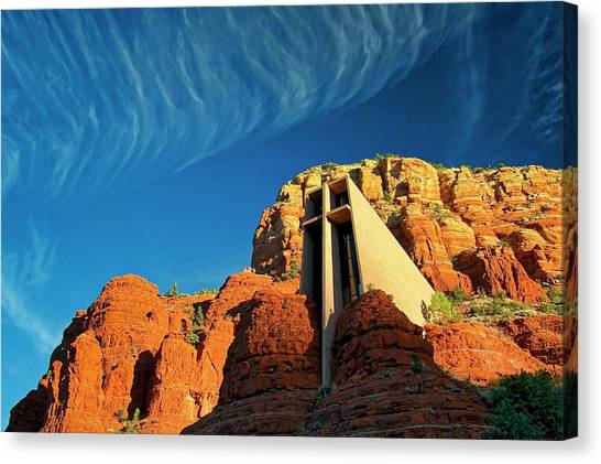 Chapel Of The Holy Cross, Sedona, Arizona Canvas Print