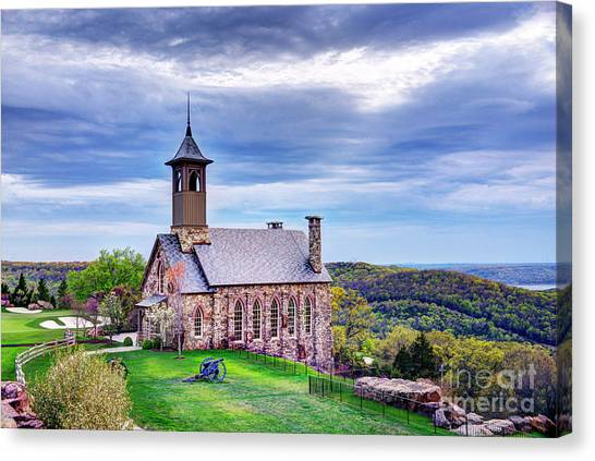 Chapel Of The Ozarks At Top Of The Rock Canvas Print