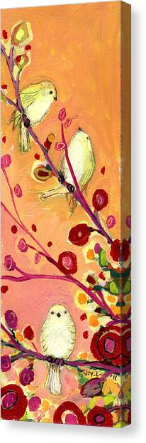 Sparrows Canvas Print - Chaperoning by Jennifer Lommers