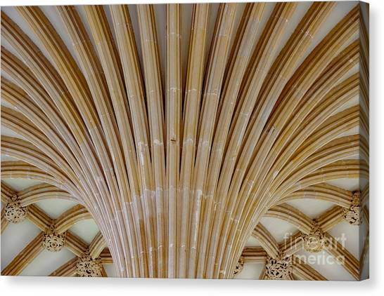 Chapter House Ceiling, Wells Cathedral. Canvas Print