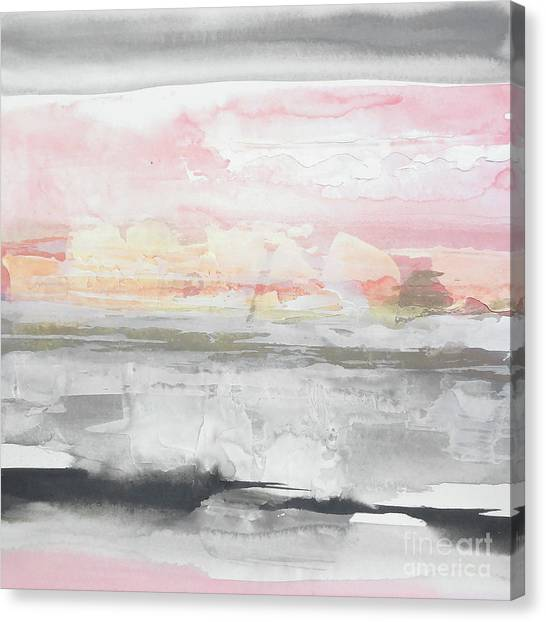 Canvas Print - Charcoal And Blush 2 by Chris Paschke