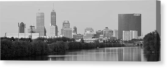 Purdue University Canvas Print - Charcoal Indianapolis by Frozen in Time Fine Art Photography