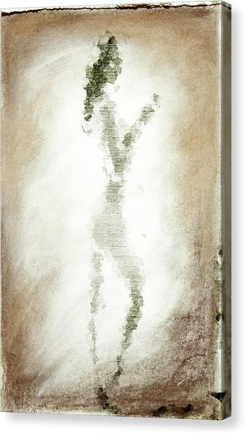 Charcoal Woman Canvas Print