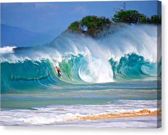 Bodyboard Canvas Print - Charge Large by Micah Roemmling