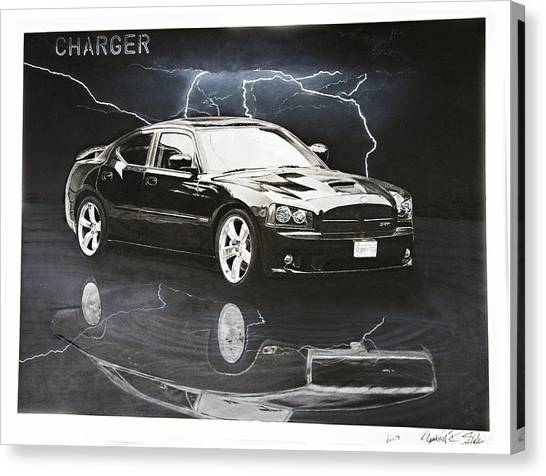 Charger Canvas Print by Raymond Potts