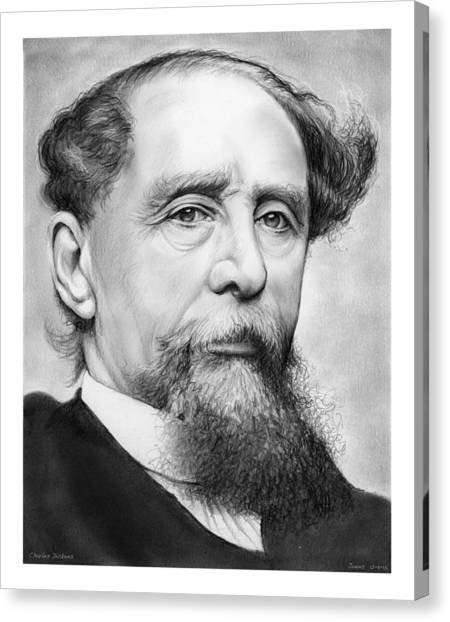19th Century Canvas Print - Charles Dickens by Greg Joens
