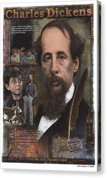 Charles Dickens Canvas Print