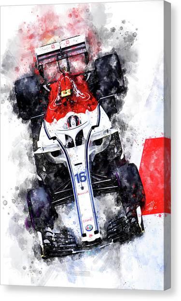 Cobra Canvas Print - Charles Leclerc 2018 by Theodor Decker