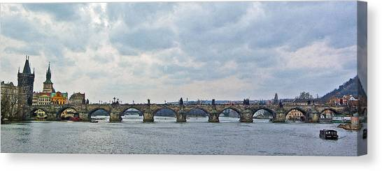 Prague Canvas Print - Charles Street Bridge by Paul Pobiak